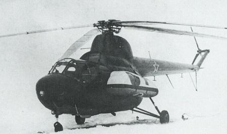 Санитарный вертолет ми-3.
