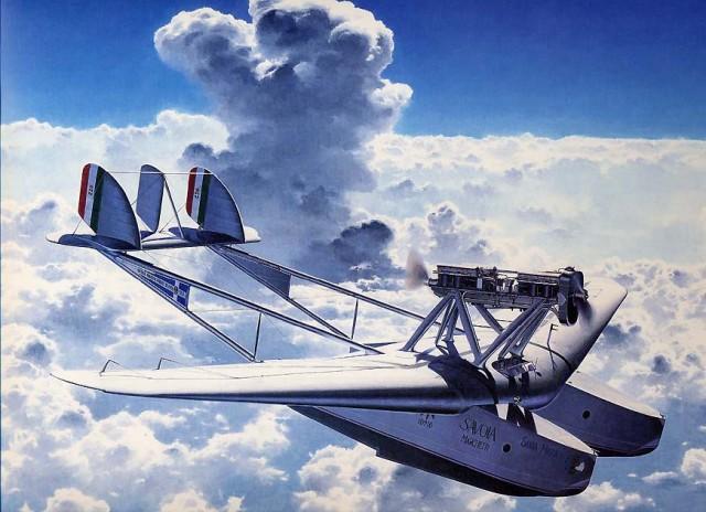 Савойя-маркетти sm.55. летающий катамаран.