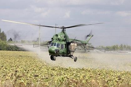 Сельскохозяйственный вертолет ми-2сх.