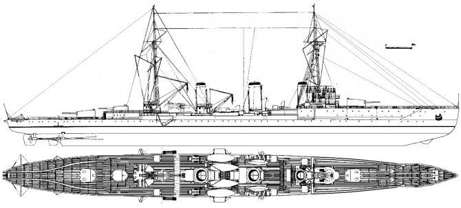 Сибирская флотилия. дополнение к части ii. проект больших крейсеров для тихого океана