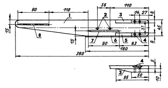 Скоростная кордовая модель самолета класса f2a