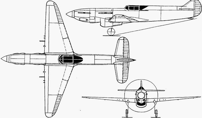 Скоростной истребитель и-1 болховитинова (проект).
