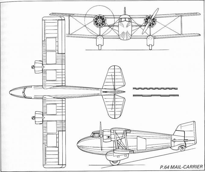 Скоростной почтовый самолет boulton-paul p.64 mail-carrier. великобритания