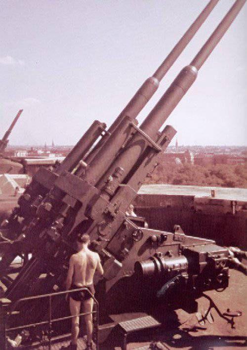 Спаренные 128-мм зенитки и зенитные броненосцы