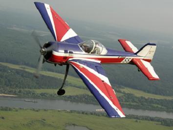 Спортивно-пилотажный самолет як-55.