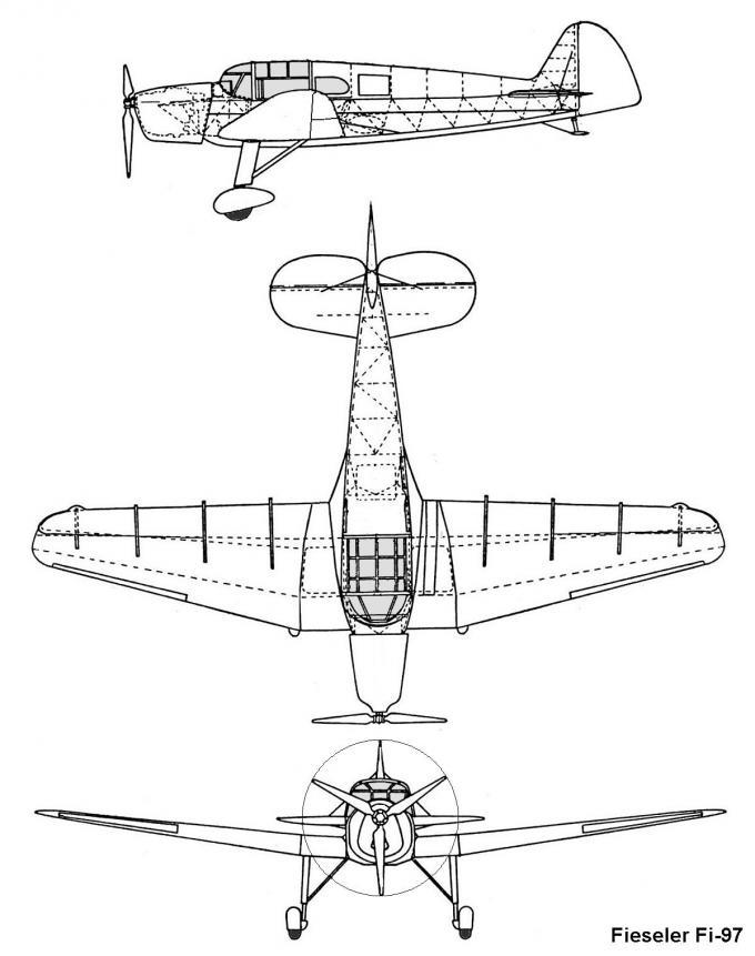 Спортивные самолеты fieseler fi 97. германия