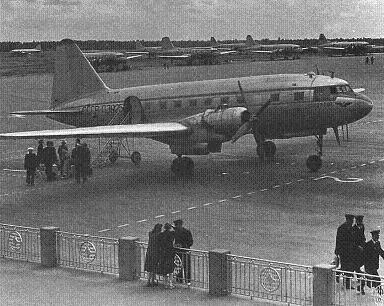 Среднемагистральный пассажирский самолет ил-12.
