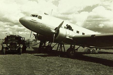 Средний транспортно-пассажирский самолет ли-2 (пс-84).