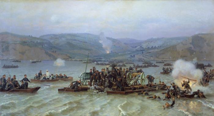 Сто сорок лет назад русские войска с боем форсировали дунай