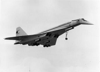 Сверхзвуковой пассажирский самолет ту-144.