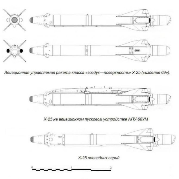 Тактическая авиационная ракета х-25 («изделие 69», х-25л).