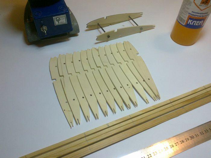 Технология изготовления нервюр для авиамоделей