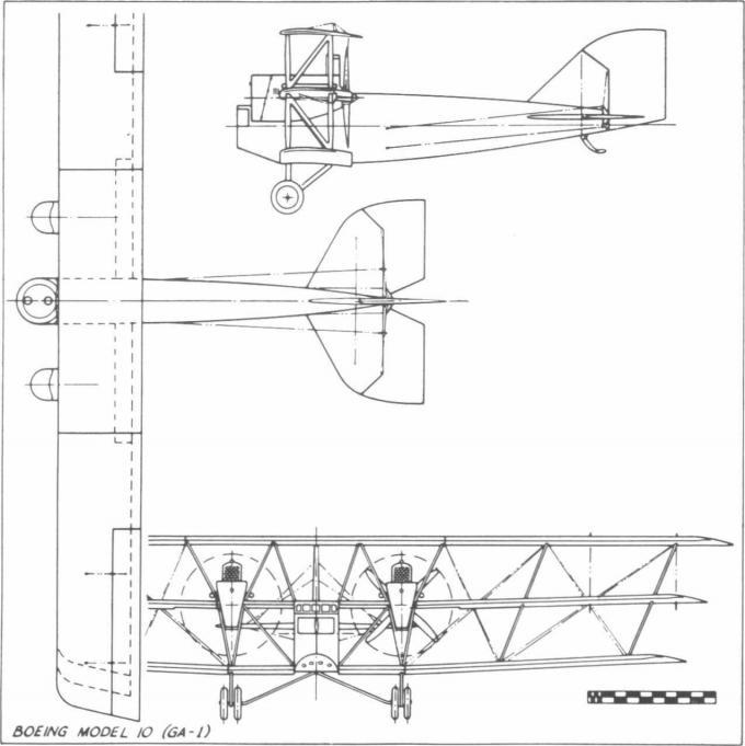 Тяжелый штурмовик boeing model 10 (ga-1, ga-2). сша