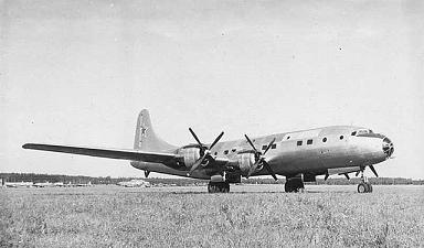Тяжелый военно-транспортный самолет ту-75.