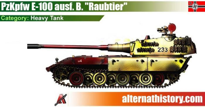 Тяжёлый танк pzkpfw e-100 ausf. b. raubtier (хищник) из мира человека в высоком замке