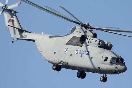 Тяжёлый транспортный вертолёт ми-26т2.