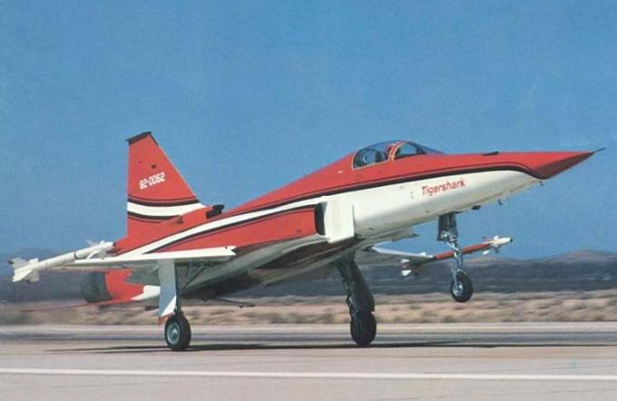 То, что могло произойти. истребитель-бомбардировщик f-20a tigershark сша