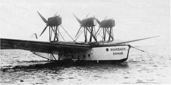 Трансатлантическая летающая лодка rohrbach ro x romar. германия часть 2