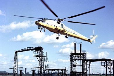 Транспортный вертолет-кран ми-10к.
