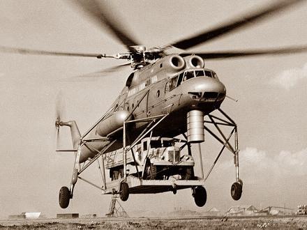 Транспортный вертолет ми-10.