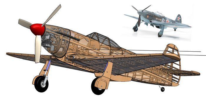 Тренировочная кордовая модель самолета для опытных моделистов класса f2b под микродвигатель кмд-2,5