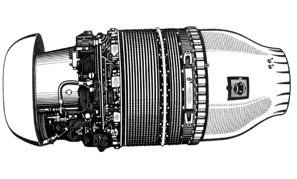 Турбореактивный авиационный двигатель амткрд-01 (ам-01).
