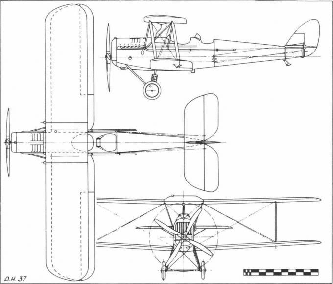 Туристические и гоночные самолеты de havilland d.h.37. великобритания