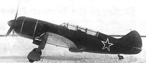 Учебно-тренировочный истребитель ла-7ути.