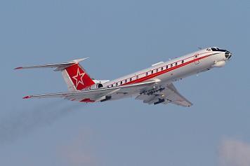 Учебно-тренировочный самолет ту-134ш.