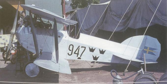 Учебно-тренировочный самолет/учебный истребитель sparmann p 1 (s.1-a). швеция