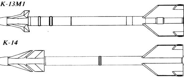 Управляемая ракета малой дальности к-14 (изделие 480).