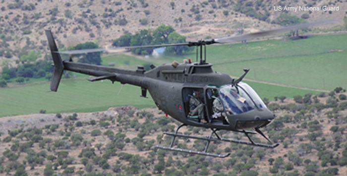 Вертолёт bell oh-58 kiowa. технические характеристики. фото.