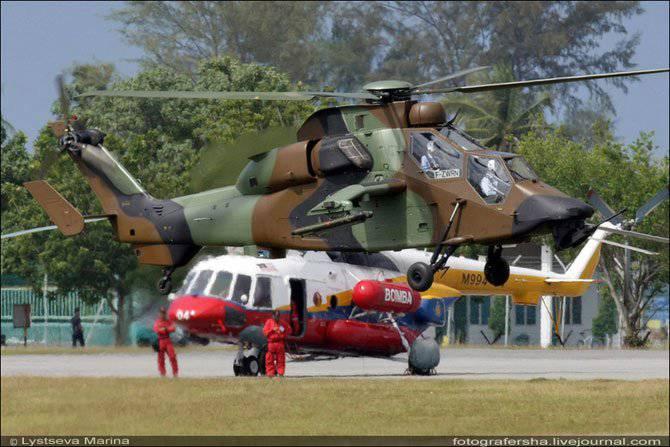 Вертолёт eurocopter tiger. технические характеристики. фото.