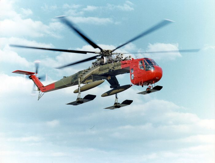 Вертолёт sikorsky s-64 skycrane. технические характеристики. фото.