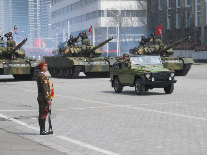 Военный парад в пхеньяне 15 апреля 2017 года