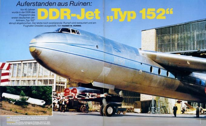 Возрождение из руин: восстановление фюзеляжа первого немецкого реактивного самолёта – пассажирского самолета baade 152