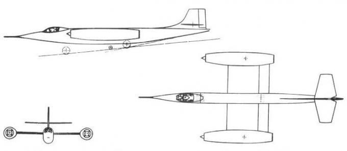 Высокоскоростные исследовательские самолеты 1952-62 годов. проект экспериментального самолета boulton-paul p.128